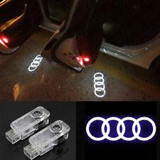 2x LED Rings Projector Logo Door Light Bulbs For AUDI A4-A5 A6 A7 A8 A3 Q7 Q3 Q5