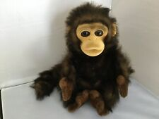 Toys R Us Animal Alley Brown Hand Puppet Monkey with Squeaker EUC