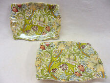 set of 2 Vintage William Morris golden lilly design soap dish