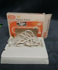 Vintage Dritz Electric Fabric Paper Sewing Scissors Shears Baby Blue No.716