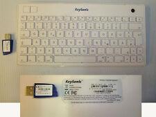 Clavier QWERTZ KeySonic KSK-3201 MacBT Mini clavier sans fil avec trackball
