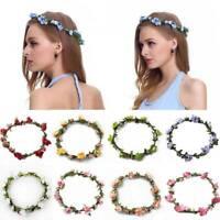 Flower Headband Head Garland Hair Band Crown Wreath Boho Hippy Wedding Chic Girl