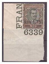 REGNO 1924  - SOPRASTAMPATI - Lire 1,75 su 10   NUOVO  **  NUMERO DI TAVOLA