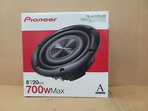 """Pioneer TS-A2000LD2 A-Series 8"""" Dual 2-Ohm 700 Watts Shallow Mount Subwoofer New"""