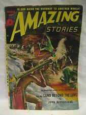 March 1952 vintage AMAZING STORIES Science Fiction pulp magazine Don Wilcox +!!!