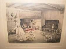 """""""CANDLE MAKING""""--BESSIE PEASE GUTMANN-SIGNED PRINT-FRAMED-15"""" X 12"""""""