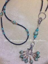 Handmade Knitting Blue Stitch Marker Necklace Set (SNAG FREE)
