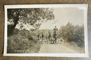 Lot of 3 Vintage RPPC by Vowles, shows a Fox Hunt and Stag Crossing a River