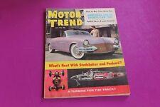 1956 Motor Trend Magazine. Mercedes 300-SL Sports Car Test. Studebaker. Packard.