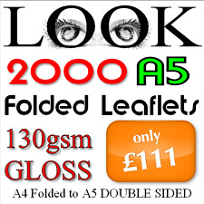 2000 A5 Folded Leaflets 148mm x 210mm