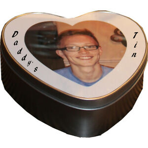 Personalised/Customized Gift your Photo Heart Tin