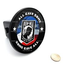 """2"""" Tow Hitch Receiver Cover Insert Plug for Most Truck & SUV - POW MIA USA FLAG"""