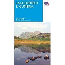 Tour  Lake District & Cumbria (OS Tour Map) by Ordnance Survey, NEW Book, FREE &