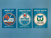 1979-80 O-Pee-Chee Hockey Card Lot 3 Cards Oilers, Jets, Whalers