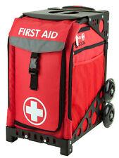 Zuca Bag First Aid Insert & Black Frame w/Non-Flashing Wheels -Free Seat Cushion