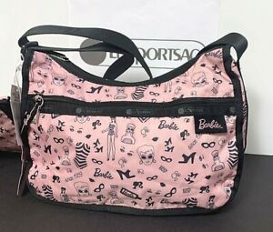LeSportsac Classic Hobo Barbie Life Since 1959 Bag 7520 G657 Pink and Black New