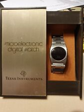 1970 Vintage Texas Instruments 101 Watch Red LED Digital Eristwatch w Box RARE
