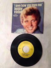 Bobby Vinton~I Love How You Love Me/Little Barefoot boy(Epic 5-10397)PIC~EXCELLE