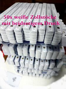 Zollstock 50x Gliedermaßstab mit Werbung Druck weiß Zollstockdruck bedruckt 2m