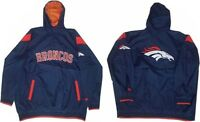 Denver Broncos NFL Mens 1/4 Zip Windbreaker Jacket Navy Blue Size 4XL