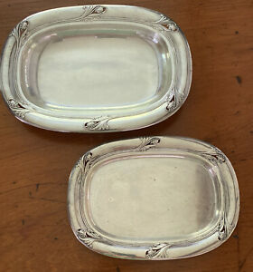 Beautiful SPRING GLORY by International.Sterling Silver Tray Set, Two Trays