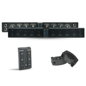 PowerBass XL-1250 500 Watt Bluetooth Waterproof Sound Bar - C-Clamps - Remote