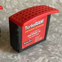 N64 TurboRAM 4MB Memory Expansion Pak Nintendo 64 InterAct Cleaned & TESTED Pack