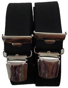feine elegante Hosenträger, 35 mm breit, extra starke Klips, Blitzversand
