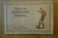 John Player & Sons  HINTS ON ASSOCIATION FOOTBALL  Book & Cigarette Cards 1934