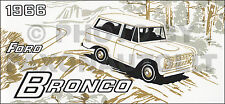 1966 Ford Bronco Owners Manual 66 Owner User Instruction Guide Book Handbook