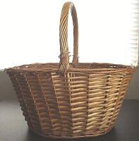 Large Weaved Straw Fruit / Picnic / Beach / Market / Easter Basket