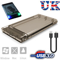 "USB 3.0 to SATA Hard Drive Enclosure Caddy Case For 2.5"" Inch HDD / SSD External"