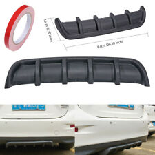 "Shark Fin 5 Wing Lip Diffuser 26"" x6"" Rear Bumper Chassis Black ABS Universal"