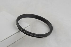 New 58mm to 55mm Metal Step-Down Ring 58mm-55mm, 58-55