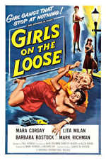 1958 GIRLS ON THE LOOSE VINTAGE MOVIE POSTER PRINT STYLE A 54x36 BIG