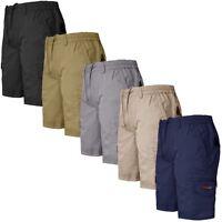 Mens Plus Size Elasticated Waist Shorts Cargo Combat Big Pants 3XL 4XL 5XL 6XL