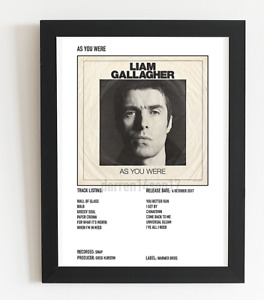 Liam Gallagher Poster As You Were Album Art Polaroid Style Rock Poster A5,A4,A3