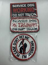 SOUTHYU 3 Pack Service Dog Patches with Hook & Loop Backing - Embroidered Tactic