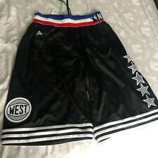 Adidas NBA All Star NYC 2015 (West) Shorts Medium M Black 100% Authentic