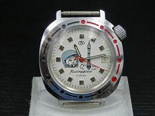 """K765⭐⭐ Russischer """" Boctok Poljot Gagarin """"  Armbanduhr Handaufzug Unbenutzt ⭐⭐"""
