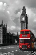 """London Westminster Bridge Bus Photo Fridge Magnet 2""""x3"""" Collectibles"""