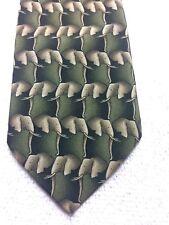 MARK JASON BOYS TIE GREEN WITH BEIGE ELEPHANTS 2.75 X 50 NWOT