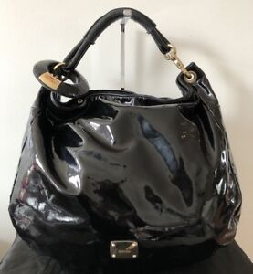 AUTHENTIC JIMMY CHOO PATENT CALF LEATHER 'SKY' HOBO RRP $1695 AUD