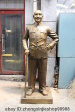72 Huge China Bronze Copper revolutionary Chiang Kai-shek sculpture