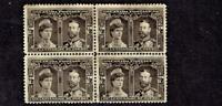 1908 Canada (BNA) Quebec Tercentenary Issue 1/2c Blk Brm Blk of 4 Sc#96 M/NH/OG*