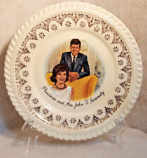 "Vintage 1960's President and Mrs. John F. Kennedy Collectible 6"" Plate USA made"