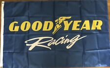 Goodyear Racing Flag 3x5 Blue Banner Garage Man Cave Tires