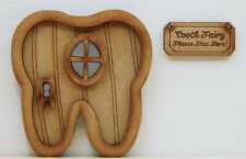 Wooden Fairy Door – Tooth Fairy Door Craft Kit + Tooth Fairy Sign & Accessories