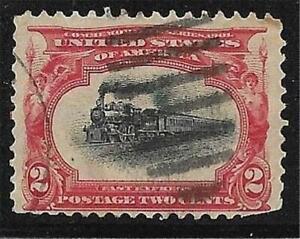 1v0402 Scott 295 US Stamp 1901 2c Fast Express Train Used