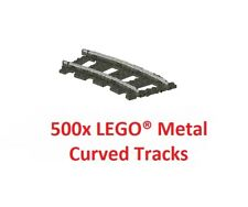 LEGO® 9V TRAIN 500x 4520 / 2867 Pieces Curved Metal Tracks Rails - TOP PRICE